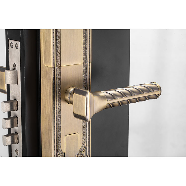 Fingerprint Security Door Handle Lock Open with Password Card Key